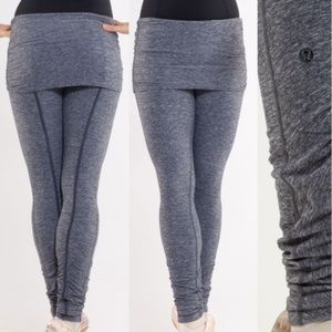 [Lululemon] Heathered Gray Chasse Skirted Tights